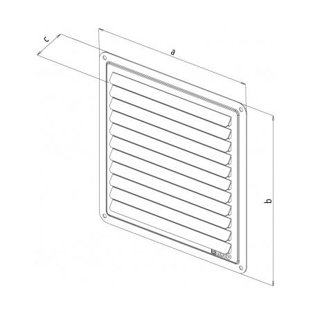 Nerezová větrací mřížka - krytka 100x100 - 2