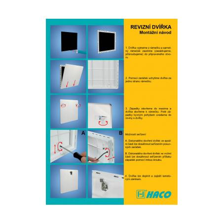 Revizní dvířka 400x400 bílá - 5