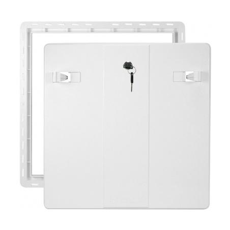Revizní dvířka 500x500 se zámkem bílá - 1