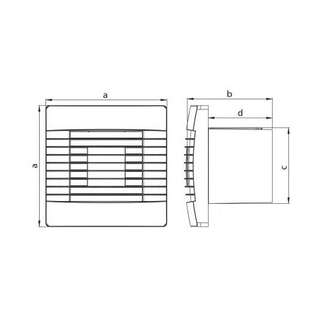 Axiální ventilátor stěnový s žaluzií AV PRO 100 T - 4