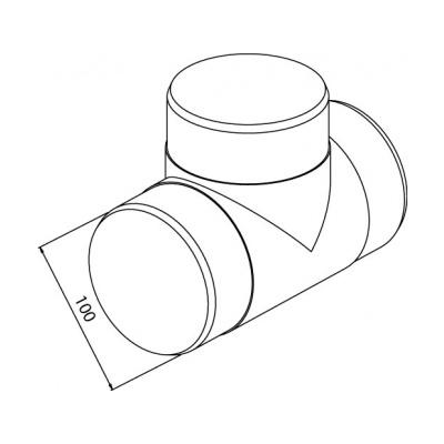 Tvarovka T kulatá CTO 3x100 - 2