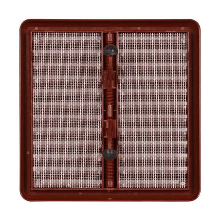Větrací mřížka se síťovinou - krytka stavitelná 150x150 hnědá - 3