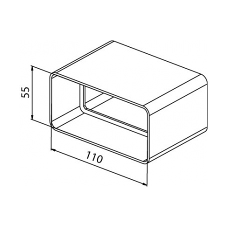 Spojka plochého kanálu CVP 110x55 - 3