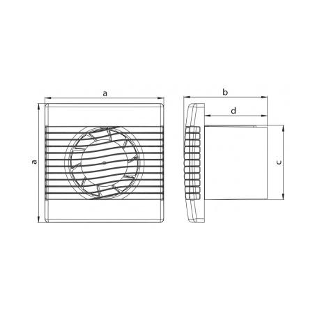 Axiální ventilátor stěnový AV BASIC 150 H - 4