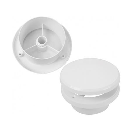 Talířový ventil s regulací prům. 100 bílá - 1