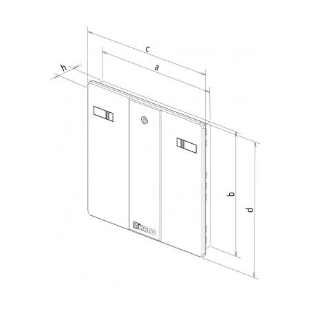 Revizní dvířka 600x600 bílá - 4