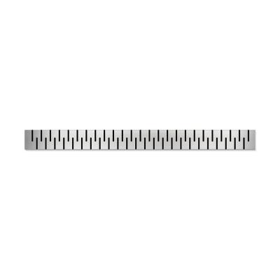 Podlahový lineární žlab ke stěně 850 mm medium mat - 2