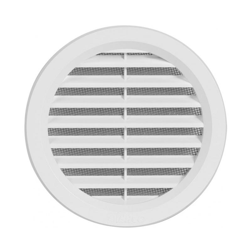 Větrací mřížka kruhová se síťovinou 110 bílá - 1