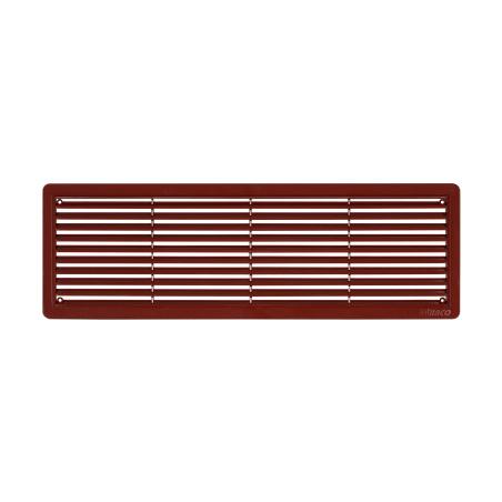 Větrací mřížka dveřní 400x130 hnědá (balení 2ks) - 2