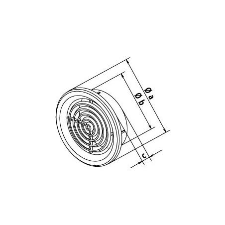 Větrací mřížka kruhová 50 hnědá (balení 4ks) - 3