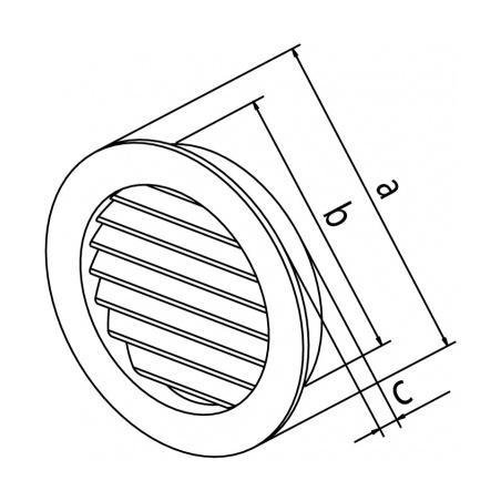 Dřevěná větrací mřížka 110 - 3