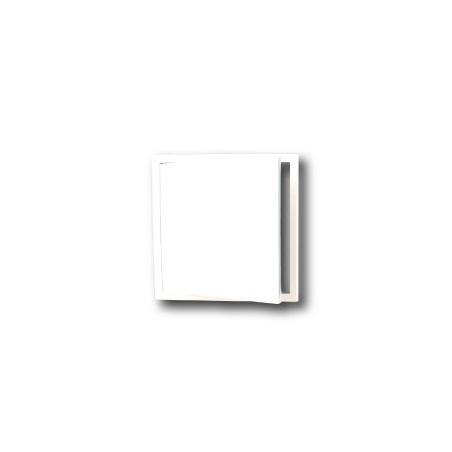 Revizní dvířka kovová 300x300 s tlačným zámkem bílá - 4