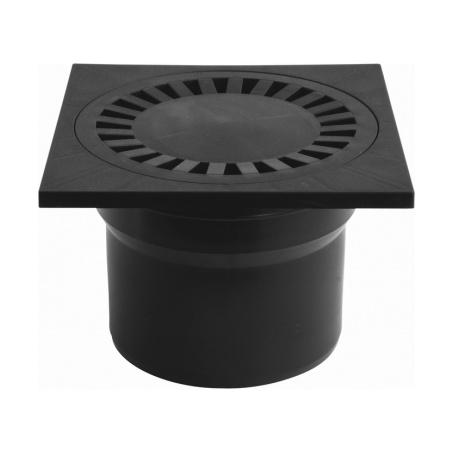 Podlahová vpusť spodní PVS DN 110 černá - 1