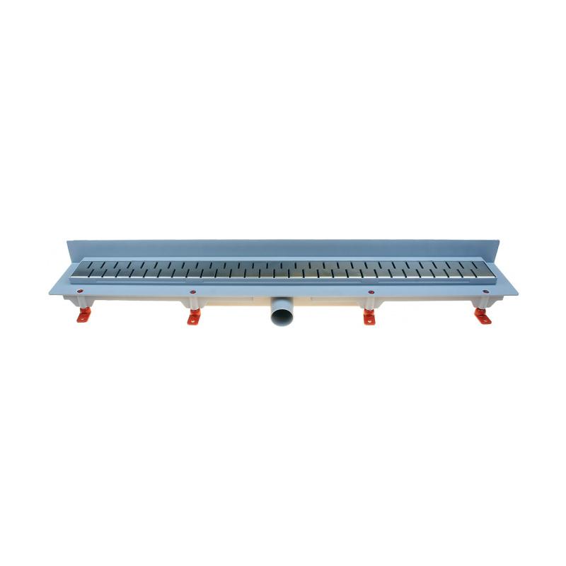 Podlahový lineární žlab ke stěně 650 mm medium mat - 1