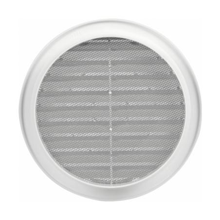 Větrací mřížka kruhová se síťovinou 140 bílá - 3