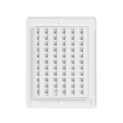 Větrací mřížka s rámečkem uzavíratelná 150x200 bílá - 2
