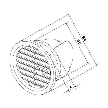 Větrací mřížka kruhová uzavíratelná 110 hnědá - 2