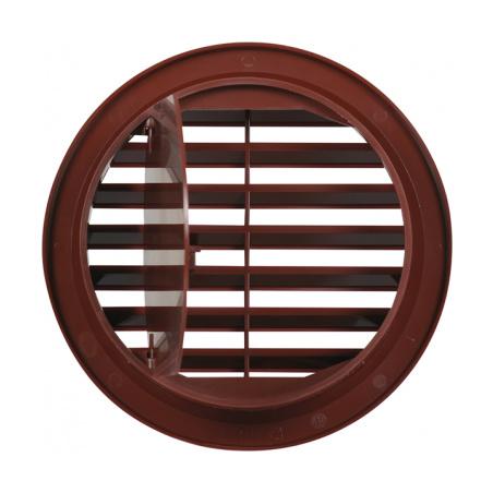 Větrací mřížka kruhová uzavíratelná 110 hnědá - 4