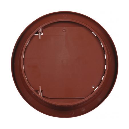 Větrací mřížka kruhová uzavíratelná 110 hnědá - 5