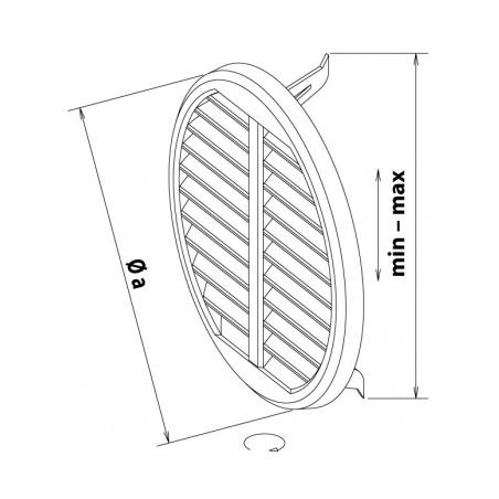 Větrací mřížka se síťovinou - krytka stavitelná 75-125 bílá - 4