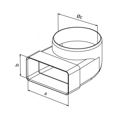 Přechodový kus koleno CKZ 125/220x55 - 2