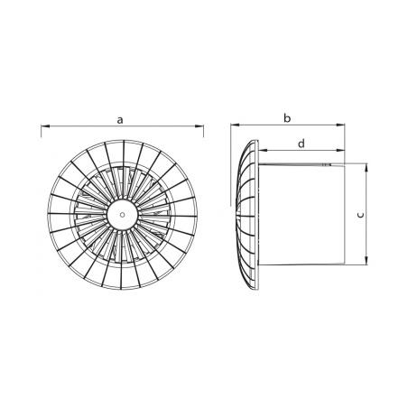 Axiální ventilátor stropní AV PLUS 150 SB - 5