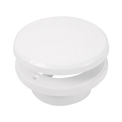 Talířový ventil s regulací prům. 125 bílá - 2