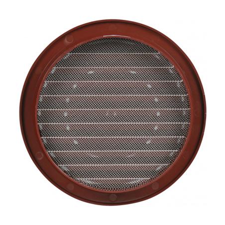 Větrací mřížka kruhová se síťovinou 140 hnědá - 3
