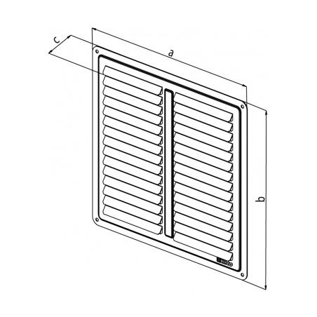 Nerezová větrací mřížka - krytka 300x200 - 2