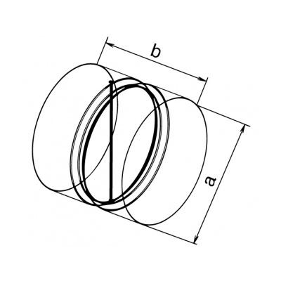 Zpětná klapka kovová ZKK 150 - 2