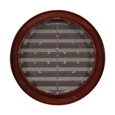 Větrací mřížka kruhová se síťovinou 110 hnědá - 2