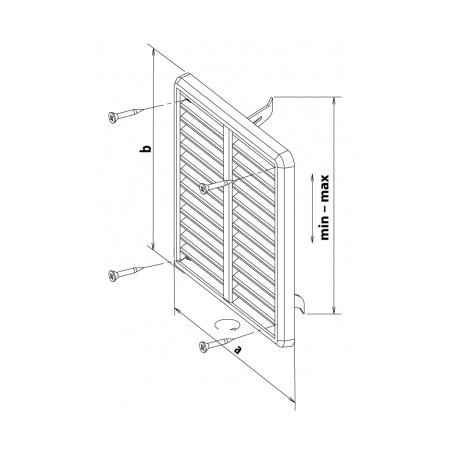 Větrací mřížka se síťovinou - krytka stavitelná 150x150 bílá - 5