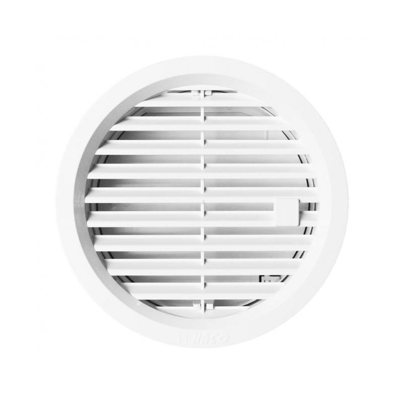 Větrací mřížka kruhová uzavíratelná 125 bílá - 1