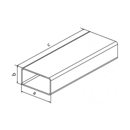 Plochý kanál V 110x55x1000 - 3