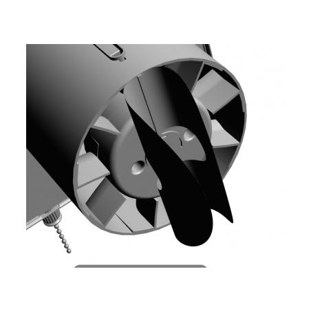 Zpětná klapka plastová k ventilátoru AV 150 - 5