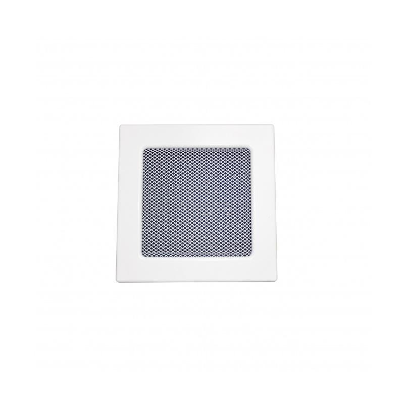 Lakovaná krbová mřížka s rámečkem a síťovinou 170x170 bílá - 1