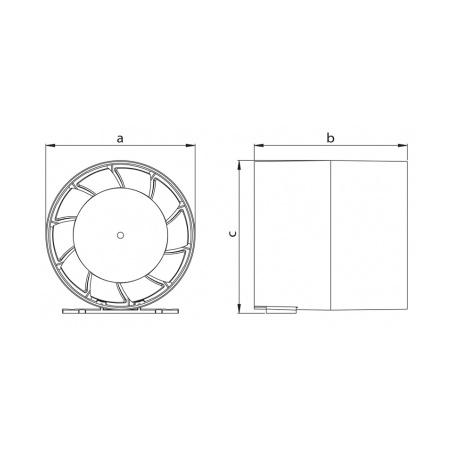 Axiální ventilátor potrubní AV JET 100 S - 7