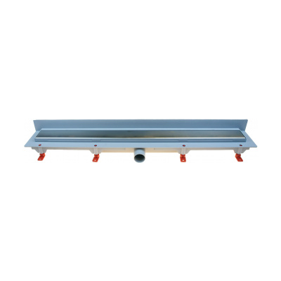 Podlahový lineární žlab ke stěně 850 mm klasik mat - 1