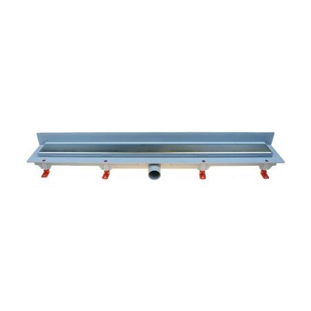 Podlahový lineární žlab ke stěně 650 mm klasik mat - 1