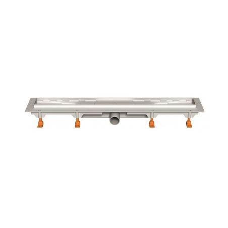 Podlahový lineární žlab 650 mm medium mat - 3