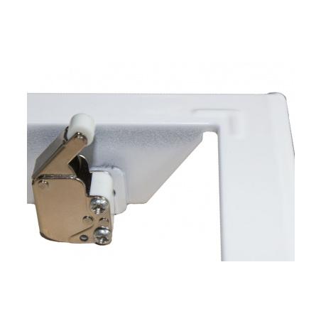 Revizní dvířka kovová 300x300 s tlačným zámkem bílá - 2