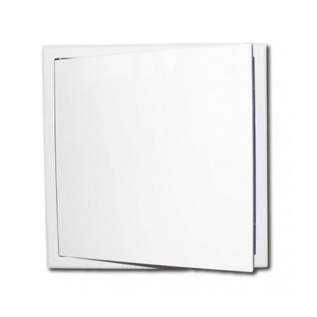 Revizní dvířka kovová 300x300 s tlačným zámkem bílá - 5
