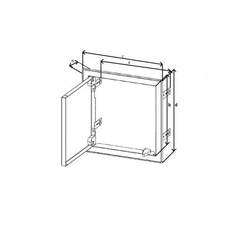 Revizní dvířka kovová 300x300 s tlačným zámkem bílá - 6