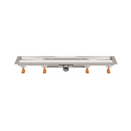 Podlahový lineární žlab 650 mm klasik mat - 3