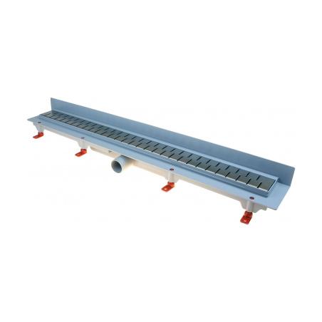 Podlahový lineární žlab ke stěně 650 mm medium mat - 2
