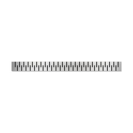 Podlahový lineární žlab ke stěně 650 mm medium mat - 3