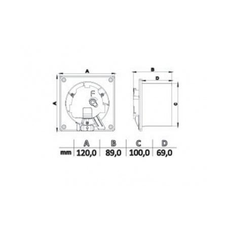 Axiální ventilátor AV DRIM 100 S - 5