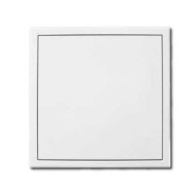 Revizní dvířka kovová 150x150 s tlačným zámkem bílá - 1