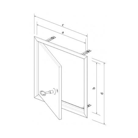 Revizní dvířka kovová bílá 500x500 - 5