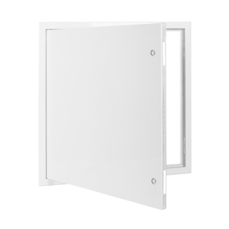 Revizní dvířka kovová bílá 800x800 - 3